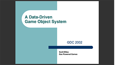 A Data-Driven Game Object System